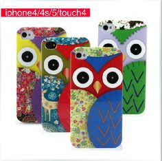 Cute Cartoon OWL Pattern Fun Animal Friends Hard Case for iPhone 4/4S/5/iPod touch 4 - iPhone 4/4S Cases
