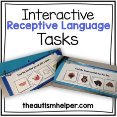 28 interactive receptive language tasks to practice complex language skills for children with autism. by: theautismhelper.com