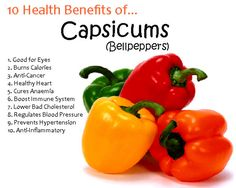 """""""Capsicum - A Useful Herb For Treatment.""""  The #health benefits of cayenne pepper (Capsicum) is one of the most powerful herbs in the world with many healing effects.  Capsaicin has been associated with many cures like lowering blood pressure, reducing cholesterol, warding off strokes and heart attacks, speeding up metabolism, treating colds and fevers, preventing cancer and pain control and many more.  #healthtips #healthcare #Fitness #healthyliving #fitnesstips"""