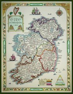 Explore a number of Irish genealogy databases offering valuable family history data in the form of extractions, transcriptions, and digitized images. Genealogy Sites, Family Genealogy, Free Genealogy, Ireland Map, Ireland Facts, My Family History, England, American Women, World History