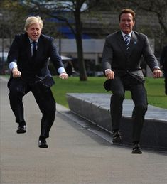 Hilarious photos of celebrities riding invisible bicycles.