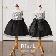 fff1d86e46509 子供ドレスのキャサリンコテージ《本店》ワンピース・スーツ・フォーマル靴   透かしレースのノースリーブドレス   120 130 140 150  160cm 黒 紺 水色 ...