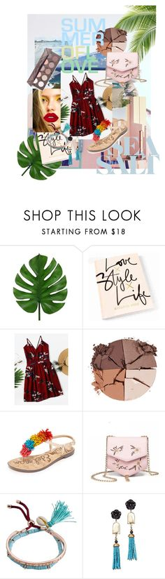 """summer of love"" by kaoriihayashi on Polyvore featuring Ricardo, Gucci, lilah b., Sam Edelman, Billabong, Of Rare Origin and Lime Crime"