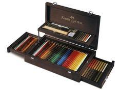 Faber-Castell Art & Graphic Holzkoffer 3x36 Farben in Antiquitäten & Kunst, Künstlerbedarf, Stifte & Kreiden | eBay