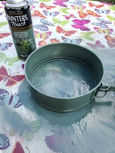 How to Upcycle Cake Tins into Round Floating Shelves · vicky myers creations Cake Tins, Off The Wall, Of Wallpaper, Upcycled Furniture, Coffee Cans, Floating Shelves, Canning, Cake Boxes, Wall Shelves