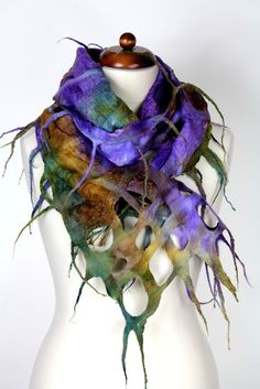 Felted Wool Scarf New Collection by FeltFieltroFilc