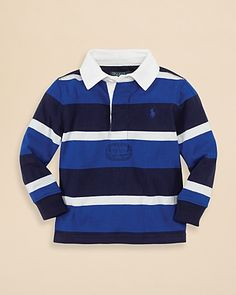 Ralph Lauren Childrenswear Infant Boys' Striped Rugby - Sizes 9-24 Months | Bloomingdale's