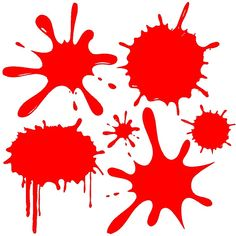 Red Paint Splats Wall Decal Removable Splat Wall Sticker Graphic x Sheet Vinyl Wall Art, Wall Decal Sticker, Vinyl Decals, Paint Splats, Overlays Picsart, Diy Stickers, Red Paint, Design Elements, Screen Printing