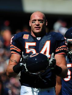 Brian Urlacher  My son loves him. He has a sweet boat in Florida.