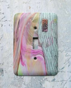 Pastel Abstraction light switch cover polymer by TMBakerDesigns