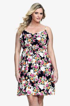Torrid.com - The Destination for Trendy Plus-size Fashion and Accessories - black floral tank dress