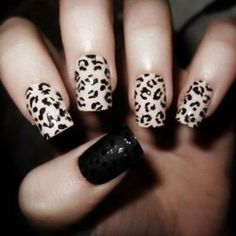 50 Stylish Leopard and Cheetah Nail Designs | Nailed it! | Pinterest ...