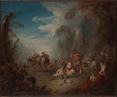 Troops at Rest by Jean-Baptiste Joseph Pater, European Paintings Bequest of Ethel Tod Humphrys, 1956 Metropolitan Museum of Art, New York, NY Medium: Oil on canvas Fine Art Prints, Framed Prints, Canvas Prints, Framed Wall, Joseph, Jean Baptiste, European Paintings, National Gallery Of Art, Triptych