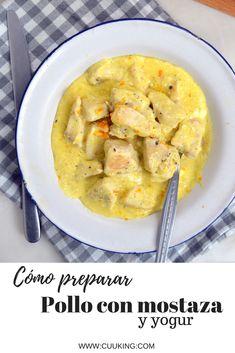 Pollo con mostaza, yogur y naranja. Receta rápida  ¡Hoy vengo con un receta de pollo a la mostaza que estoy seguro que te va a encantar! Se prepara en menos de 20 minutos y en una sartén ¡Además, lo mejor de todo, es que es super sano!