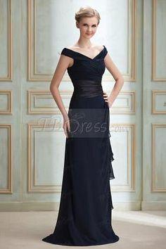 Elegant Ruched Sheath/Column Off-The-Shoulder Appliques Long Bridesmaid Prom Dress