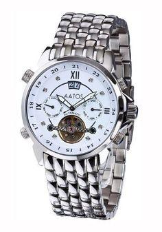 Aatos Automatic Diamonds Stainless Steel White Dial Men's Watch JaakkoSSWD Aatos. $89.00