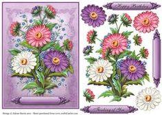 Pretty Daisies - Decoupage Card