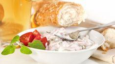 Parížsky šalát | Recepty.sk Ale, Cheese, Meat, Chicken, Food, Ale Beer, Essen, Meals, Yemek