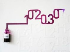 """Ink Calendar"": the ink is absorbed slowly so the numbers on the calendar are ""printed"" daily."