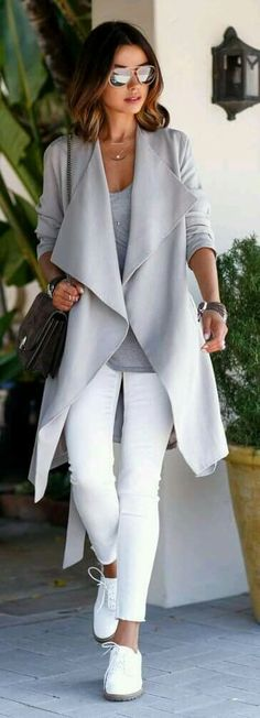 SF: LOVE this outfit! The long jacket and pretty neutrals are my thing