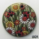 PED-17-A Spring Meadow on Terracotta Pendant
