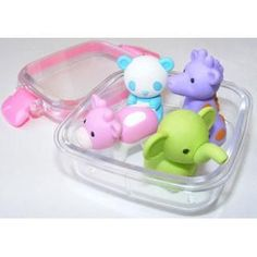 Zoo Animal Erasers in a Box