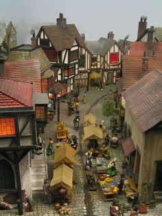 Miniature Village Re-pinned from Dollhouses and Miniatures by Dennette Johnson