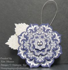 Pretty paper snowflake ornament, gift-topper or embellishment -- from Stamping Imperfection.