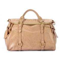 Creamcoloured Bow Embellished Glossed Leather Totes