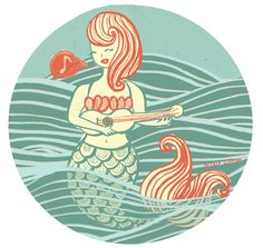 Nautical Illustrations for 'Shells Bakery' by Nicola Colton, via Behance