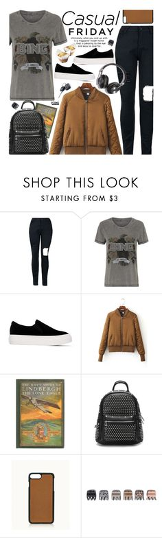 """Yoins Casual"" by beebeely-look ❤ liked on Polyvore featuring GiGi New York, Forever 21, BackToSchool, casual, casualfriday, schoolstyle and yoinscollection"