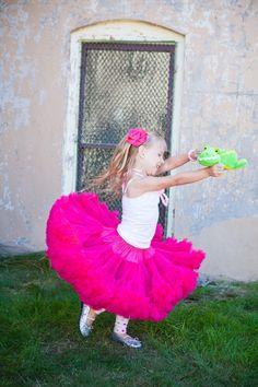 Dreamspun's Sweetheart Pettiskirt Raspberry Pink by DreamSpunKids