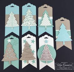 Stampin' Up! Peaceful Pines, Christmas Tags. Stamp With Kim Australia