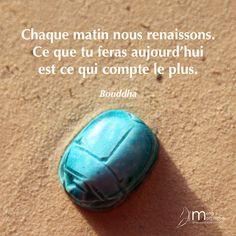 Chaque matin nous renaissons.  #JeSuisPresentAMaVie #08h08 #Bouddha #Renaissance