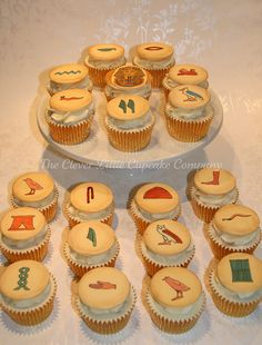 Cupcakes...make sugar cookies w/royal icing and draw hieroglyphics on with edible ink markers