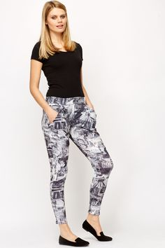 Graphic Print Leisure Trousers @ Everything5pounds.com