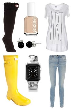 """""""ART"""" by sydddneysmith on Polyvore featuring Hunter, Casetify, Bling Jewelry, Essie, Alexander Wang and Vero Moda"""