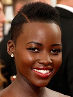 Lupita Nyong'o hair and makeup at the Golden Globes 2014 - celebrity beauty trends - Cosmopolitan.co.uk