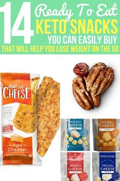 It can be so hard to find good keto snacks that you can just buy, instead of making everything from scratch. These simple treats will keep you full all day long even when you are on the go and busy. Keto Snacks To Buy, Good Keto Snacks, Healthy Vegan Snacks, Healthy Store Bought Snacks, Quick Snacks, Healthy Eats, Keto Cookies, Halle Berry, Gourmet Recipes