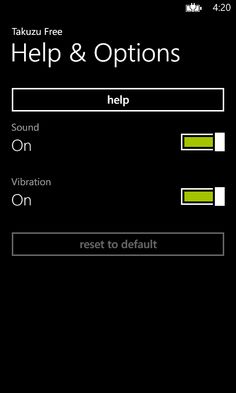 Takuzu Free allows the user to enable or disable sound and vibration effects.  Please visit the Windows Phone store to download: http://www.windowsphone.com/s?appid=37cc5432-e7b6-46ea-9db6-0b6434bf0efd
