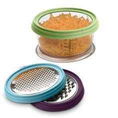 2Blade Grate and Store Container with Lid