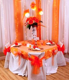 table decor using the Quinceañera supplies available at Michael's Quinceanera Decorations, Wedding Decorations, Table Decorations, Blue Orange Weddings, Sweet 15, 50th Birthday Party, Table Arrangements, Anniversary Parties, Centerpieces