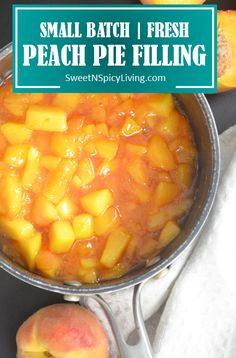 Nothing beats fresh homemade Peach Filling. Super easy and delicious. Fruit Recipes, Dessert Recipes, Recipies, Pie Recipes, Canning Peach Pie Filling, Fresh Peach Pie, Peach Sauce, Canning Peaches, Canning Recipes