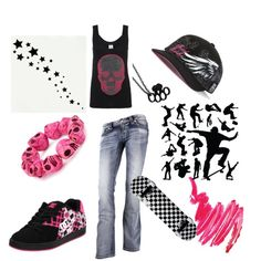 skater cheekah, created by lilnelson707 on Polyvore