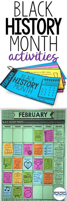 These Black History Month activities will have students learning about African American leaders and history-makers.  Students will read mini-biographies about famous African Americans before creating an interactive Black History Month calendar!