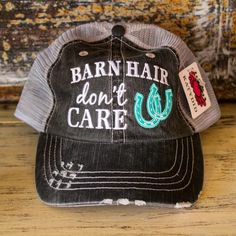 You know this Barn Hair girl had to have these!!! These trucker hats are stylish, comfy, and very well made!