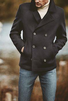 M/&S/&W Mens Warm Long Coat Jacket Turn Down Collar Woolen Party Outwear