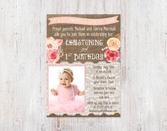 1st birthday and christeningbaptism invitation sample baptism christening and 1st birthday invitations bautizo 1er cumple invitaciones baptism birthday invitat filmwisefo