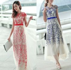 New Arrival embroidery Long Prom Dress Evening Dress,Sweetheart prom dress