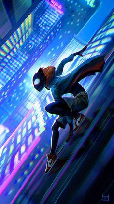 Drawing Marvel Comics Miles Morales - Ultimate Spider-Man, Into the Spider-Verse Marvel Comics, Marvel Comic Universe, Marvel Art, Marvel Memes, Marvel Avengers, Ms Marvel, Captain Marvel, Black Spiderman, Spiderman Art